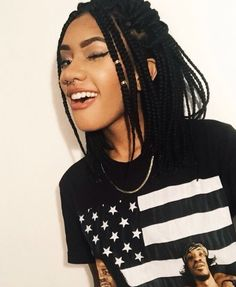 30 Short Box Braids Hairstyles A password will be e-mailed to you.Short Box Braids Hairstyles IdeasBecause often use hair extensions, there are tons of ultra long version 30 Short Box Brai Short Box Braids Hairstyles, African Braids Hairstyles, Black Girls Hairstyles, Protective Hairstyles, Trendy Hairstyles, Hairstyle Braid, Protective Styles, Afro Braids, Shag Hairstyles