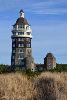 Private lighthouse on the Washington State coastline (Long Beach Peninsula)