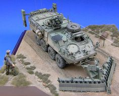 Trumpeter 1/35 M1132 Stryker Engineer Squad Vehicle (ESV) with Surface Mine Plow  (DV) ❤♒Thank❤You♒I❤❤❤You♒