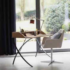 Bureau bois et mtal trs lgant Wood and metal desk Deco
