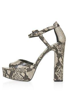 Lena Snake Platform Sandals