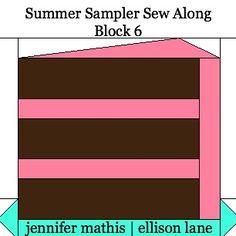 Ellison Lane : Summer Sampler Sew Along: Block 6 Chocolate Cake!