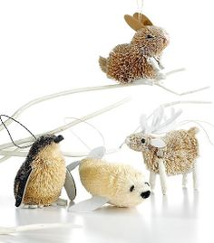 ...might try these in clay, in our class....w/o the string Christmas Kiss, Christmas Ornament Sets, Christmas 2014, Christmas Candy, Christmas Wreaths, Christmas Crafts, Candy Christmas Decorations, Woodland Christmas, Animal Decor