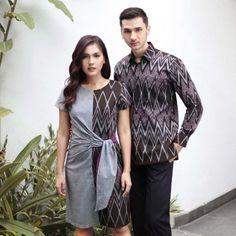 Cute Couple Outfits, Simple Outfits, Simple Dresses, Blouse Batik, Batik Dress, Dress Batik Kombinasi, Mode Batik, Batik Fashion, Hijab Fashion