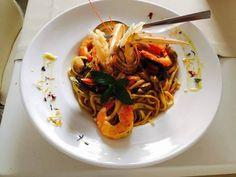 Prawn Seafood Pasta Lefkada Lefkas Greece