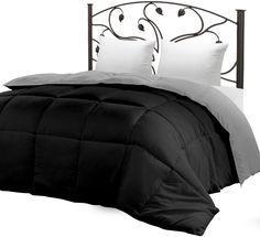 Utopia Bedding Down Alternative Reversible Comforter, Queen Size {Ub0065}