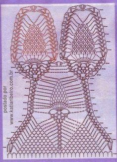 Crochet Recipes: Swimsuit or crochet body Crochet Lingerie, Crochet Bra, Crochet Bikini Pattern, Crochet Lace Edging, Crochet Blouse, Crochet Chart, Crochet Clothes, Crochet Monokini, Bikinis Crochet