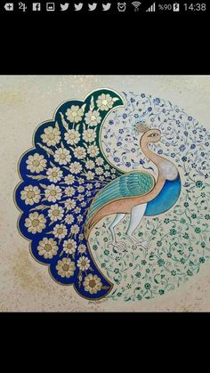 Islamic Art Pattern, Pattern Art, Peacock Art, Madhubani Art, Indian Folk Art, Iranian Art, Madhubani Painting, Turkish Art, Calligraphy Art