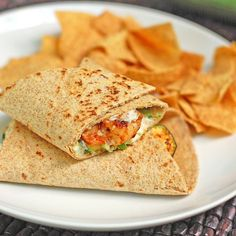 Garlic Shrimp and Zucchini Wrap - Pinch of Yum