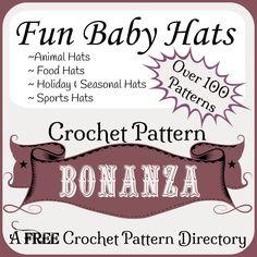 Crochet Fun Baby Hats ~ FREE Crochet Patterns