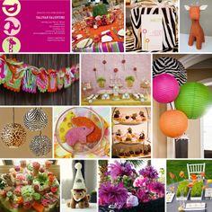 Girl Birthday Party Inspiration Board    http://www.cakeeventsblog.com/2010/06/custom-inspiration-board-zoo-gone-girly.html