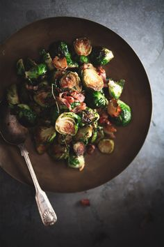 brussels sprouts with bacon and juniper #pintowin #anthropologie