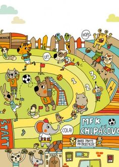 Maria Neradova Illustration: Amazing Illustrator for story starters, noun searches, I spy, etc. Language Activities, Sensory Activities, Vive Le Sport, Writing Pictures, Kids Graphics, Receptive Language, Speech Language Therapy, Language Classes, Language Development