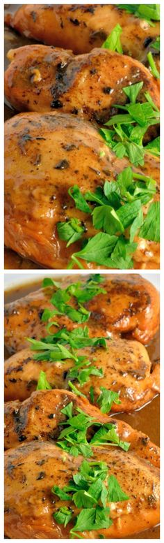 Slow Cooker Apple Balsamic Chicken- ~ Full of taste, low on time, apple jelly, apple juice and balsamic vinegar give this dish loads of flavor... Serve over buttered rice or egg noodles.