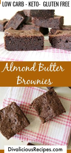 Almond Butter Chocolate Brownies are a great flourless brownie. Low carb & gluten free too. Almond Butter Chocolate Brownies are a great flourless brownie. Low carb & gluten free too. Cheesecake Recipes, Cupcake Recipes, Dessert Recipes, Cupcake Ideas, Cookie Ideas, Cookie Recipes, Homemade Milk Chocolate, Mint Chocolate, Chocolate Brownies