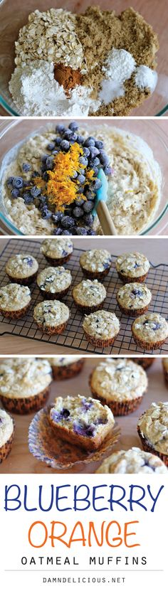 Blueberry Orange Oatmeal Muffins - Healthy, hearty muffins loaded with juicy blueberries and refreshing orange flavor!