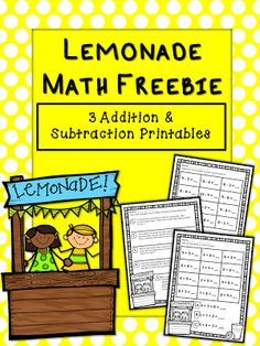 Free addition and subtraction printables (including word problems). More Than Math by Mo