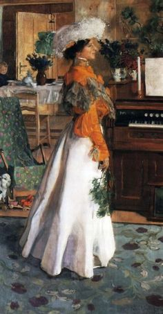 Portrait of the Artist's Wife, Józef Mehoffer, 1904