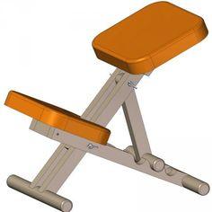 Wooden kneeling chair plan, also has metal kneeling chair plan