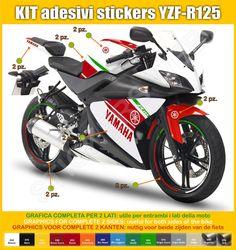 Adesivi Stickers moto motorcycle Yamaha di PIMAstickerslab su Etsy
