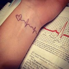 Your child's heartbeat tattooed :) Would  def. get this over my heart with birthdate