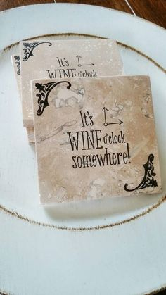 Check out this item in my Etsy shop https://www.etsy.com/listing/270569884/set-of-4-travertine-tile-coasters-wine