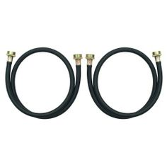 Whirlpool 8212546RP 4-Foot Black Rubber Washer Hoses, 2-Pack by Whirlpool. $8.89. From the Manufacturer      These hoses have Anti-Corrosive Couplings, Pre-Installed High Quality EPDM Washers, and a 1050 PSI Burst Strength. Hoses exceed IAPMO, CSA, ANSI, IEC 61770, and RMA standards, and are designed for use with both hot and cold water inlet. Hoses are better than stainless steel and will not conduct electricity. Includes (2) 4-foot hoses. Replace inlet hoses afte...