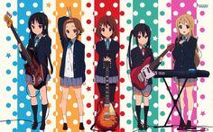 Mio, Ritsu, Yui, Azusa, and Mugi     _K-On!