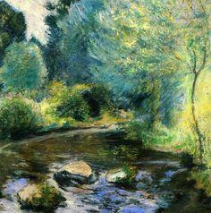 "John Henry Twachtman (1853-1902)  ""Spring Stream."" "