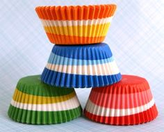Assorted Retro Swirl Cupcake Liners (100). $7.00, via Etsy.