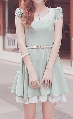 cute dress, 3 great color options, cute outfit, K Fashion ...