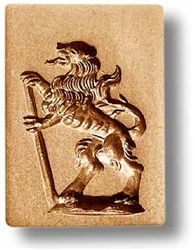 Lion with Staff Cookie Mold | Basel Switzerland Springerle Mold