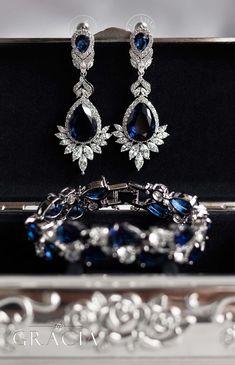 sapphire blue bridal