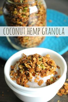 Coconut Hemp  - In our house, a bath of granola lasts about 2 weeks. With this one, it was gone in less than 1. Okay, so most of that was me just eating it directly from the pan, warm from the oven. But still. That's improvement!                                                                                                                                                                                 More