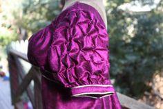 Side of Regency ballgown