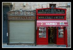 Old shops - Valletta, Malta