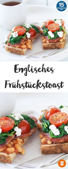 English breakfast toast – Famous Last Words Breakfast Toast, Low Carb Breakfast, Breakfast Time, Weight Watchers Breakfast, Weight Watchers Meals, Vegetarian Breakfast Recipes, Paleo Dinner, Special Recipes, Food And Drink