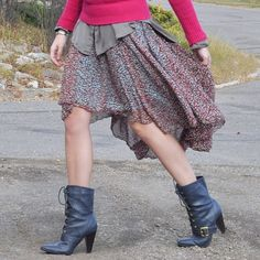 super cute #DIY mullet skirt. Need to make me a couple of these, oh my gosh!