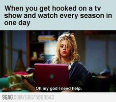 Totally did this with Vampire Diaries . . .  Just to make myself feel better . . . it was raining outside :)