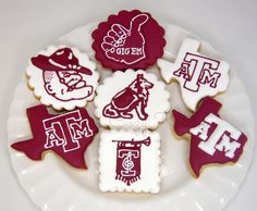 Texas A&M Aggie cookies for all things #Aggie!  #Gigem!  #AggieCookies https://www.facebook.com/CindysCozyKitchen