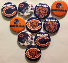 "Chicago Bears 1"" Flatback buttons, crafts NFL on Etsy, $4.99"