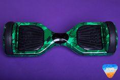 Green Camo Hoverboard Custom Vinyl Wrap Decal