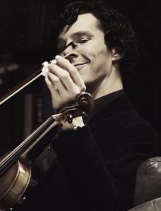 Sherlock & Violin | I can just feel the snarky little brother Sherlock rising off this photos.