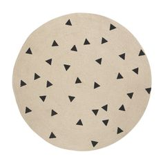 Jute Vloerkleed Black Triangles Small