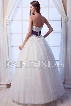 vestidos de novia Sin tirantes Cristal Sinequs Encaje Tul  Elegante Moderno Glamouroso Encaje Sin Mangas Hasta Suelo Marfil