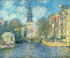 Zuiderkerk+in+Amsterdam+-+Claude+Monet