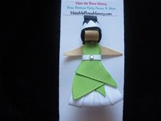 Princess Tiana ribbon sculpture hair clip, hair bow, disney | bowsandbling2 - Children's on ArtFire