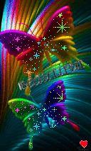 Animated Gif by msphathead Blue Butterfly Wallpaper, Butterfly Background, Pop Art Wallpaper, Flower Phone Wallpaper, Butterfly Pictures, Butterfly Painting, Cellphone Wallpaper, Wallpaper Iphone Cute, Wallpaper Backgrounds