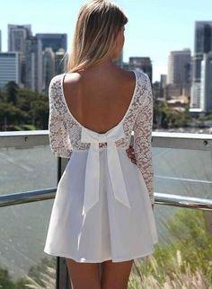 Cute short #wedding dress and or #bridesmaid dress www.finditforweddings.com