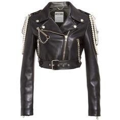 Women's Moschino Chain & Faux Pearl Embellished Faux Leather Jacket ($2195) liked on Polyvore featuring outerwear jackets moschino moschino jackets drape jacket motorcycle jacket moto jacket faux-leather moto jackets and biker jacket ...loved by their fans. By this time they were at war with the public due to their controversial song 'God Save The Queen'.They reluctantly signed with ... needed identity and outlet for expression. They opened up the music industry like a tin can flipped it… Vegan Leather Jacket, Faux Leather Jackets, Men's Leather, Punk Jackets, Outerwear Jackets, Biker Jackets, Outerwear Women, Looks Hip Hop, Mode Rock